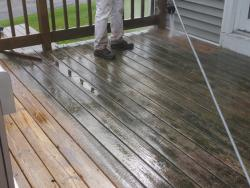 NH deck cleaning power washing