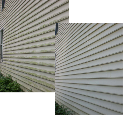Residential pressure washing vinyl siding in NH & MA