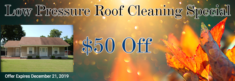 $50 off Low Pressure Roof Cleaning NH MA