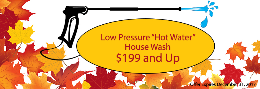 Low Pressure Hot Water House Wash NH MA