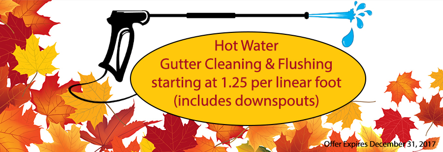 Hot Water Gutter Cleaning & Flushing NH MA