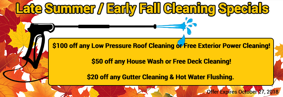Late Summer / Early Fall House Washing, Roof Cleaning, Gutter Cleaning, NH MA